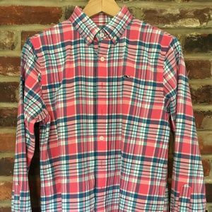 Vineyard Vines Flannel Blue Pink Whale Shirt Boys